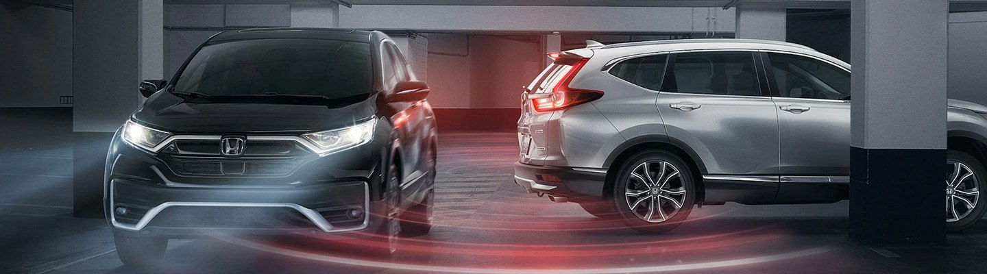 Honda Sensing Suite in action with two vehicles