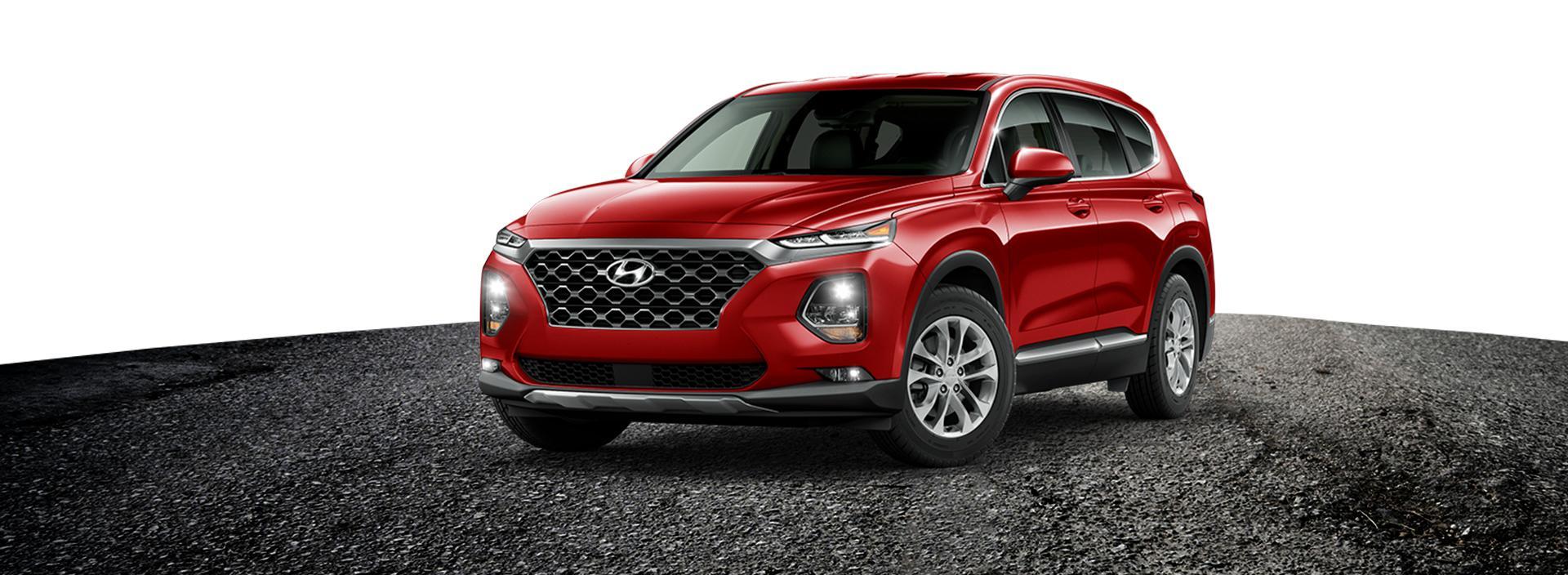 Red Hyundai Santa Fe