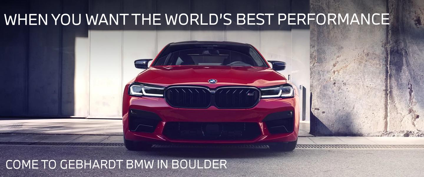 When You Want The World's Best Performance - Come To Gebhardt BMW In Boulder - 2021 BMW M5 SEDAN