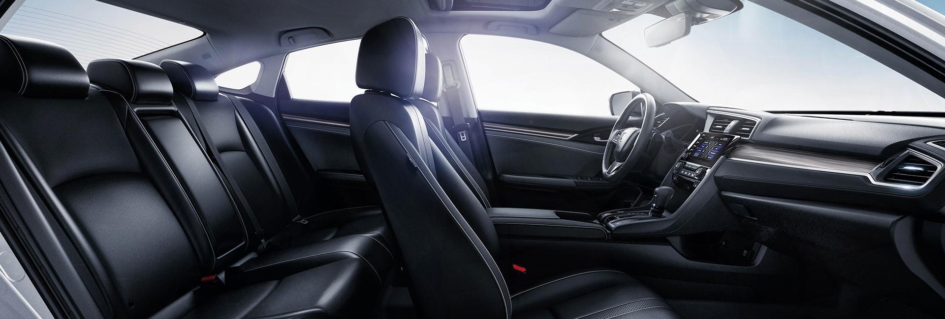 Side view of a Honda Civic interior