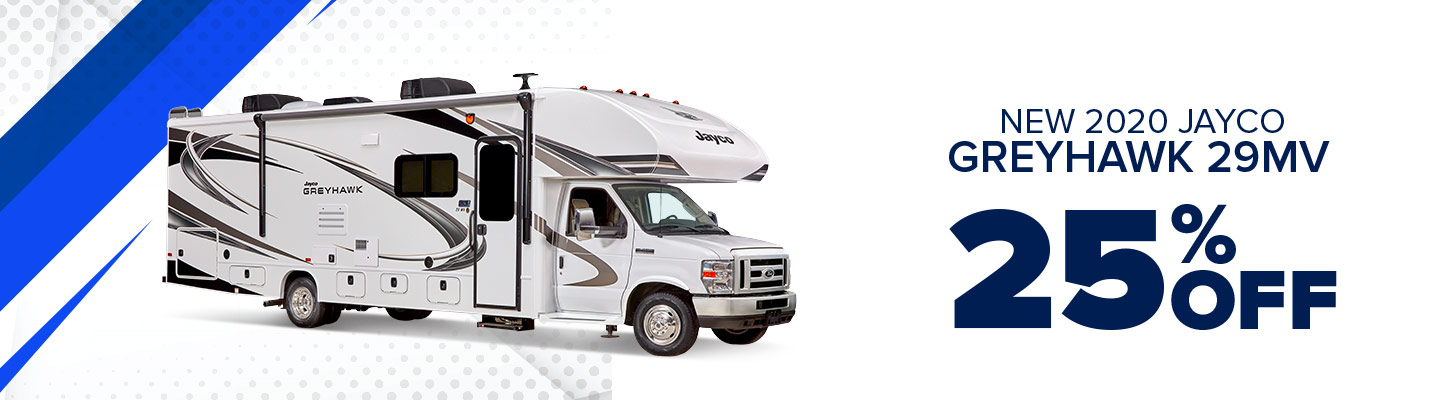 New 2020 Jayco Greyhawk 29MV 25% Off