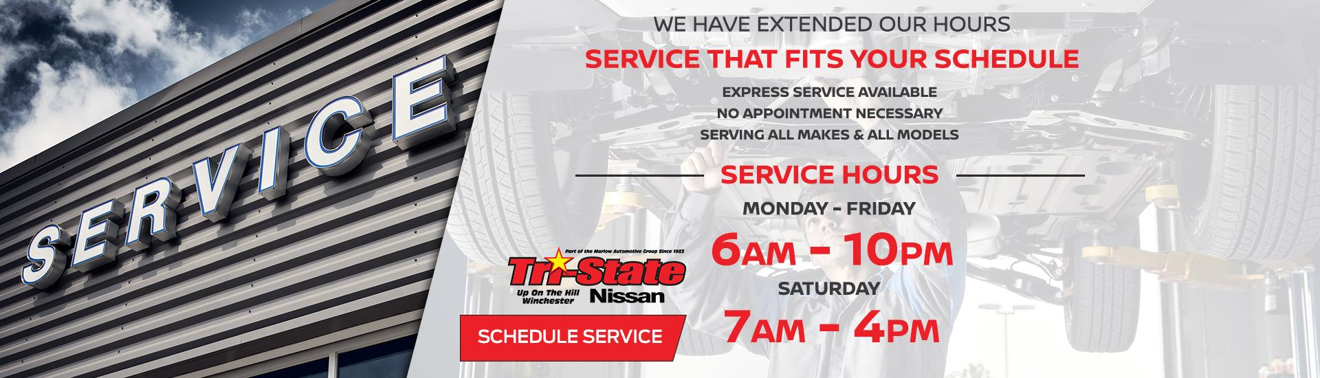 Service at Tri-State Nissan in Winchester Virginia