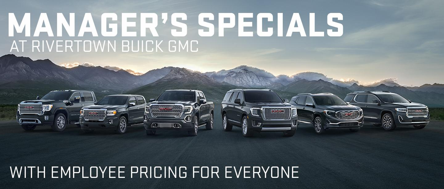 Manager's specials at Rivertown Buick GMC