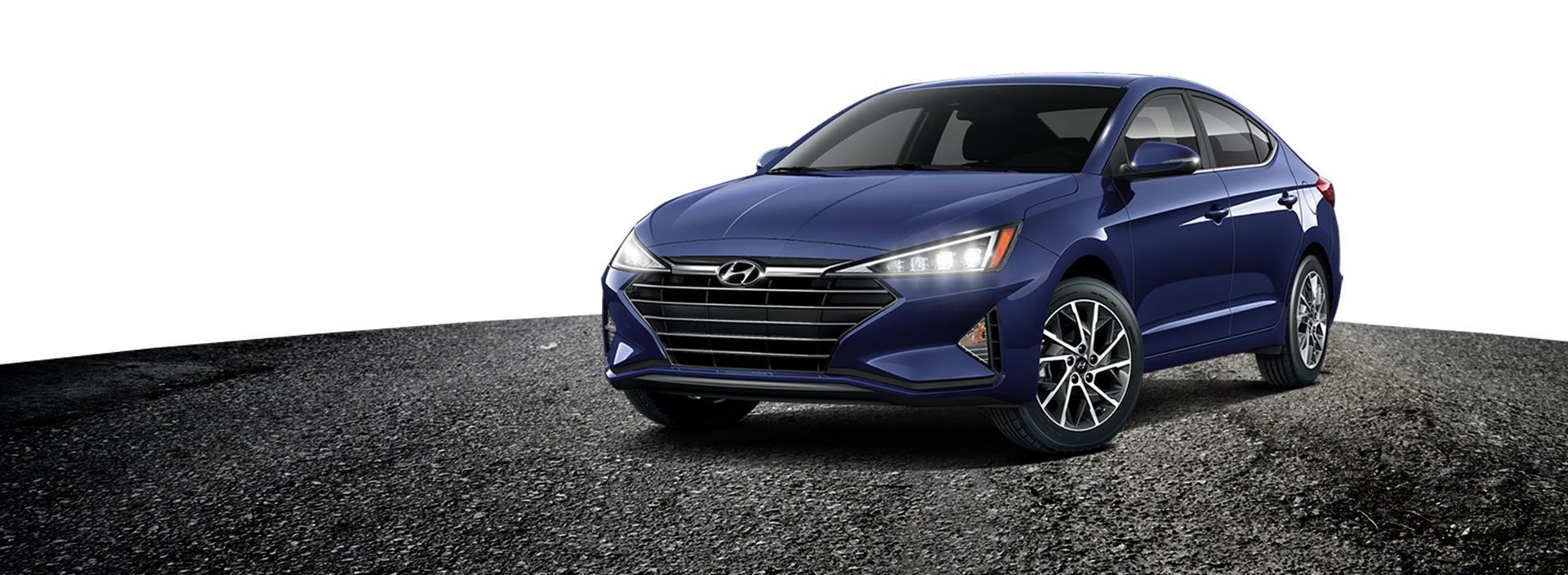 Dark Blue Hyundai Elantra