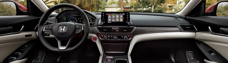 Full interior view of a 2021 Honda