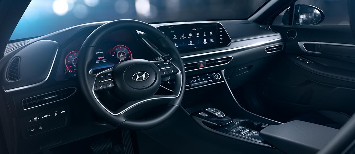 Interior of the 2020 Hyundai Sonata