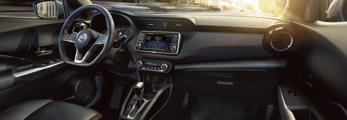 Driver and passenger perspective inside the 2020 Nissan Kicks