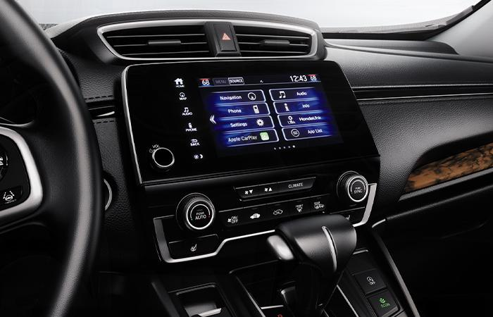 Close up view of a CR-V's infotainment system