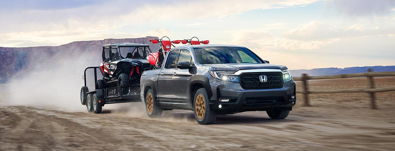 2021 Honda Ridgeline towing cargo