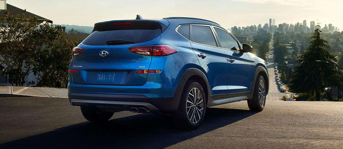 Exterior of a 2020 Hyundai Tucson parked