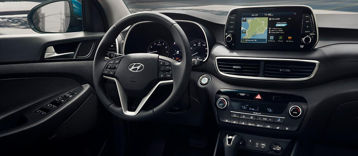 Interior view of the 2020 Hyundai Tucson