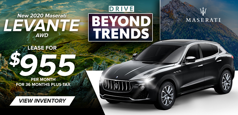 New 2020 Maserati Levante AWD - Lease for $955/ Month for 36 Months plus tax