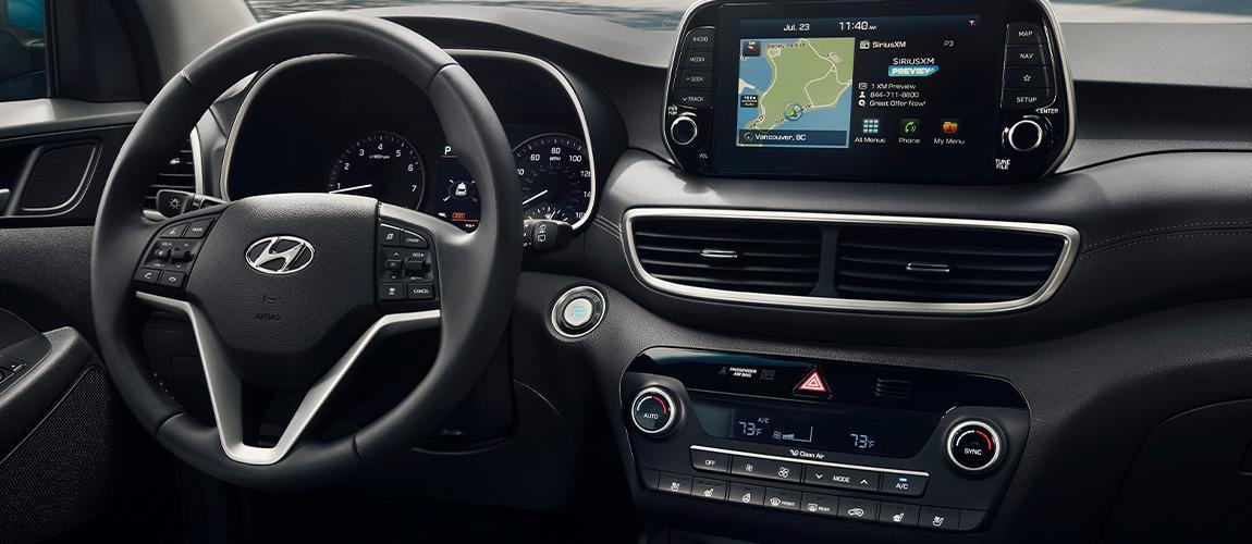 Interior view of the 2020 Hyundai Tucson