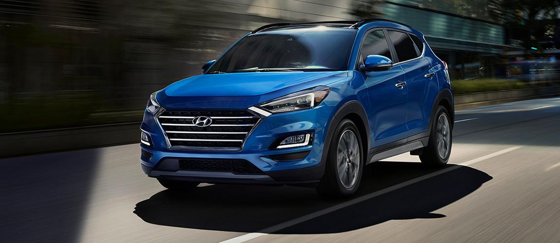 Exterior of a 2020 Hyundai Tucson