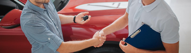 Customer purchasing a vehicle