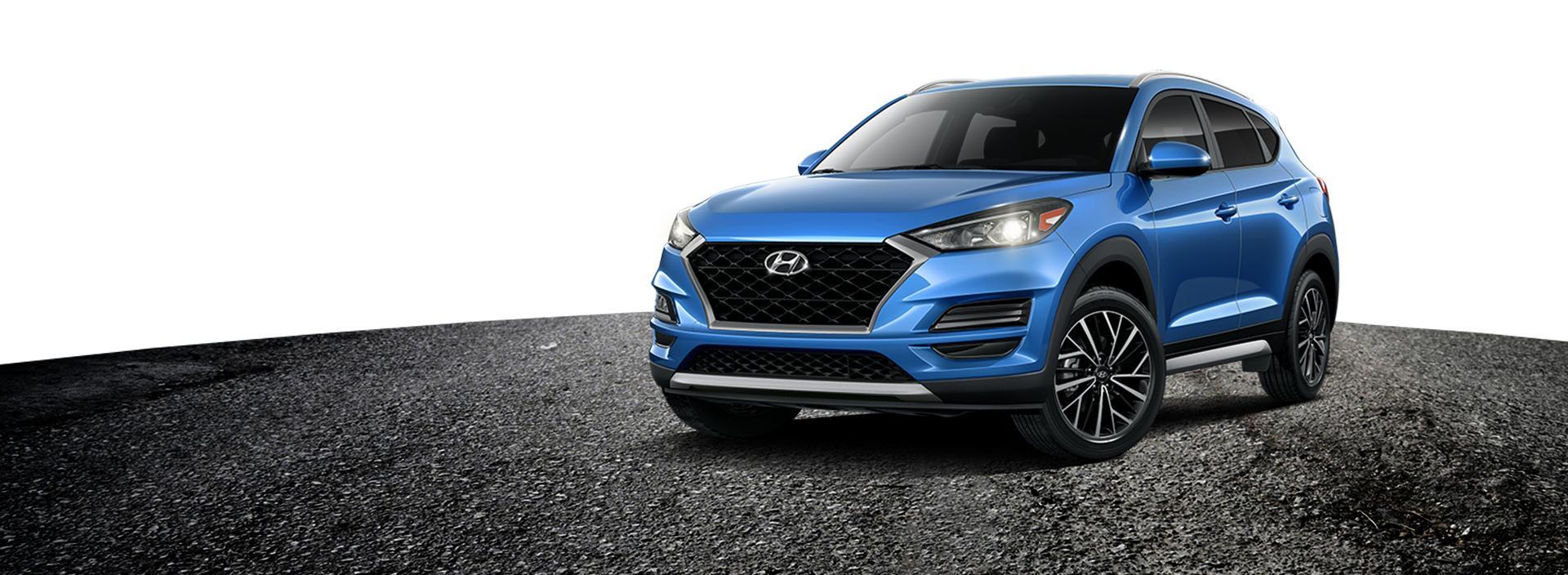 Blue 2020 Hyundai Tucson