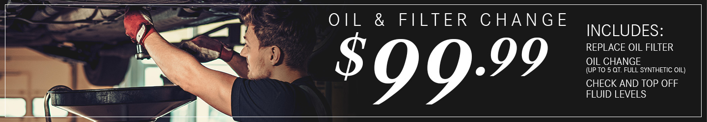 Oil & Filter Change Special $99.99