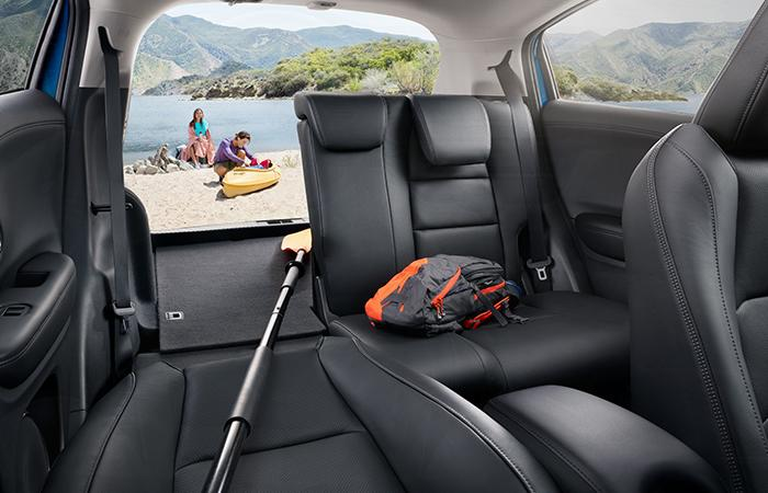 Passenger's seat perspective of a Honda HR-V's backseat and cargo space