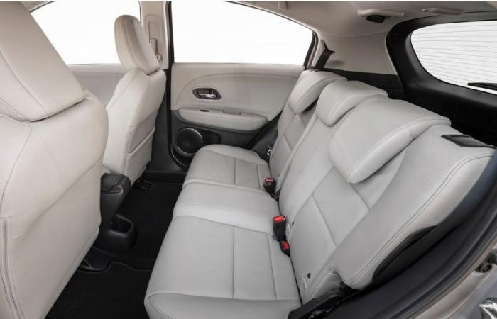 Close up view of a Honda HR-V's rear seats