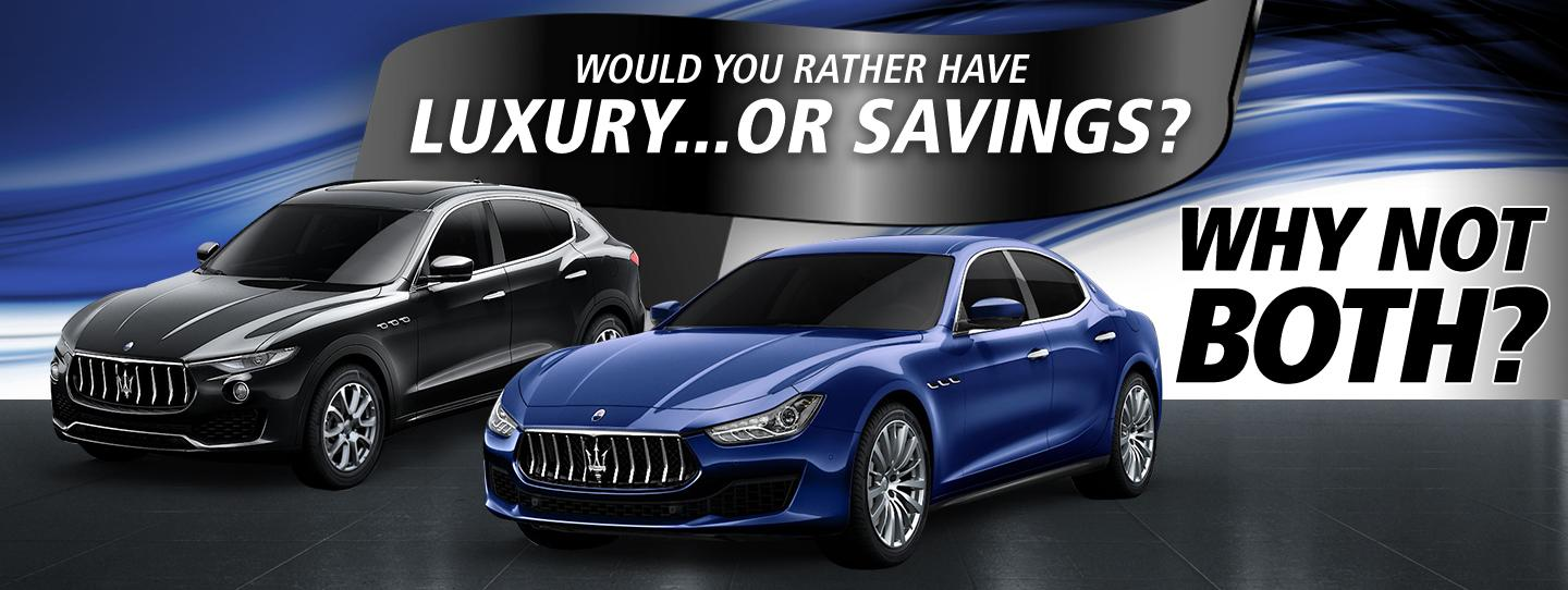 Would you rather have Luxury or savings? Why not both?