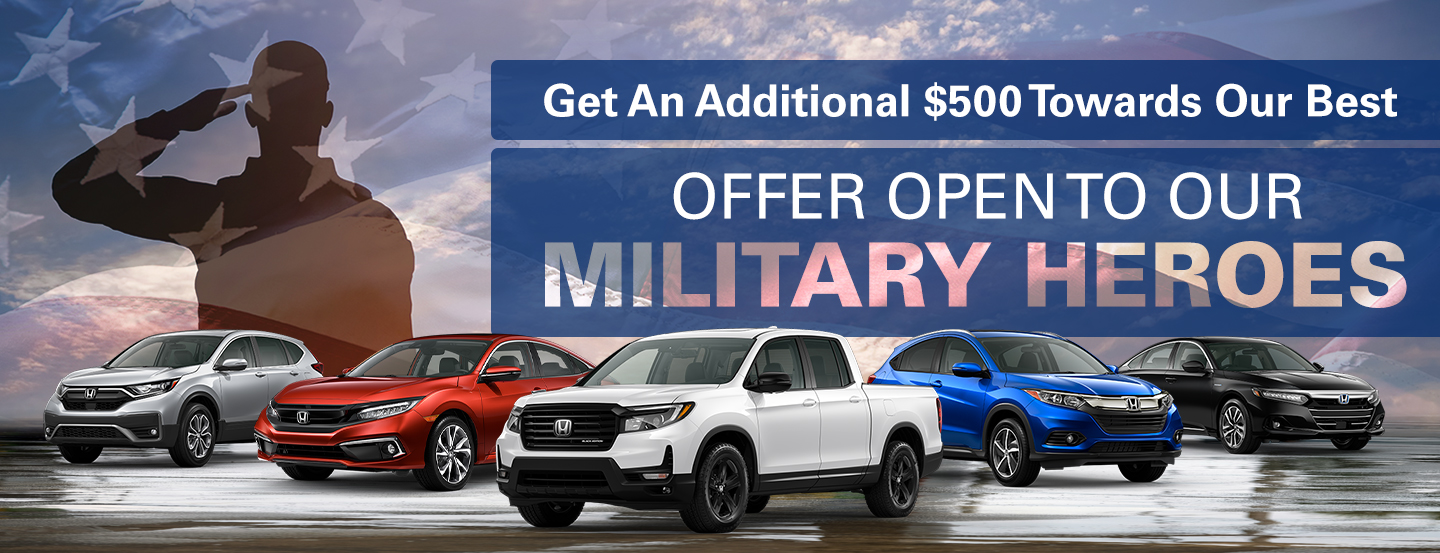 Offer open to our military heroes
