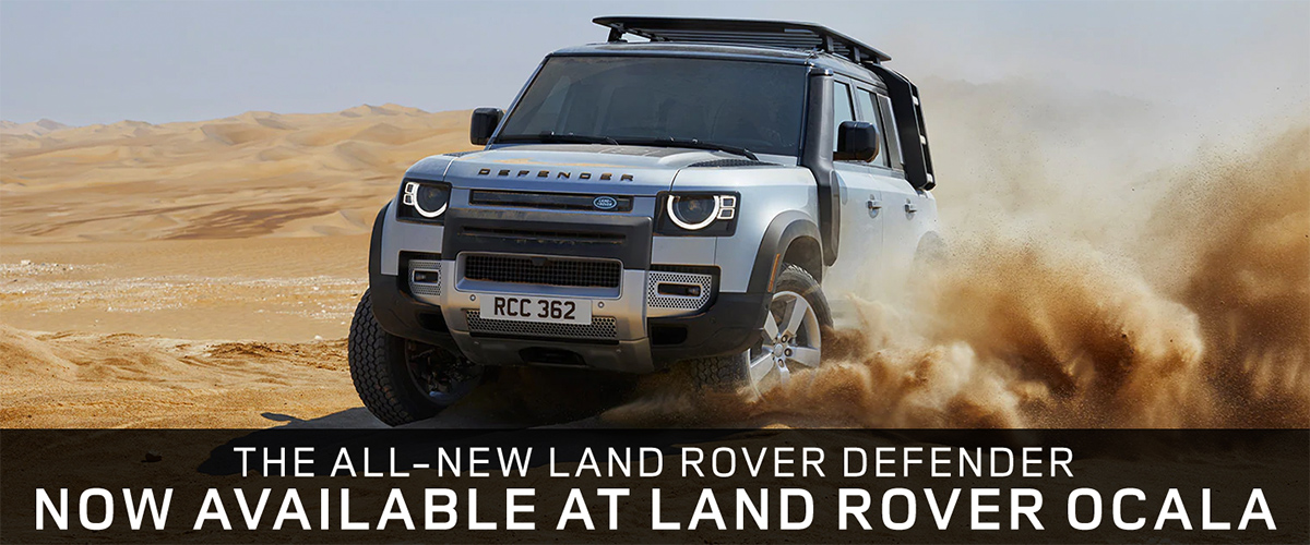 Land Rover in motion