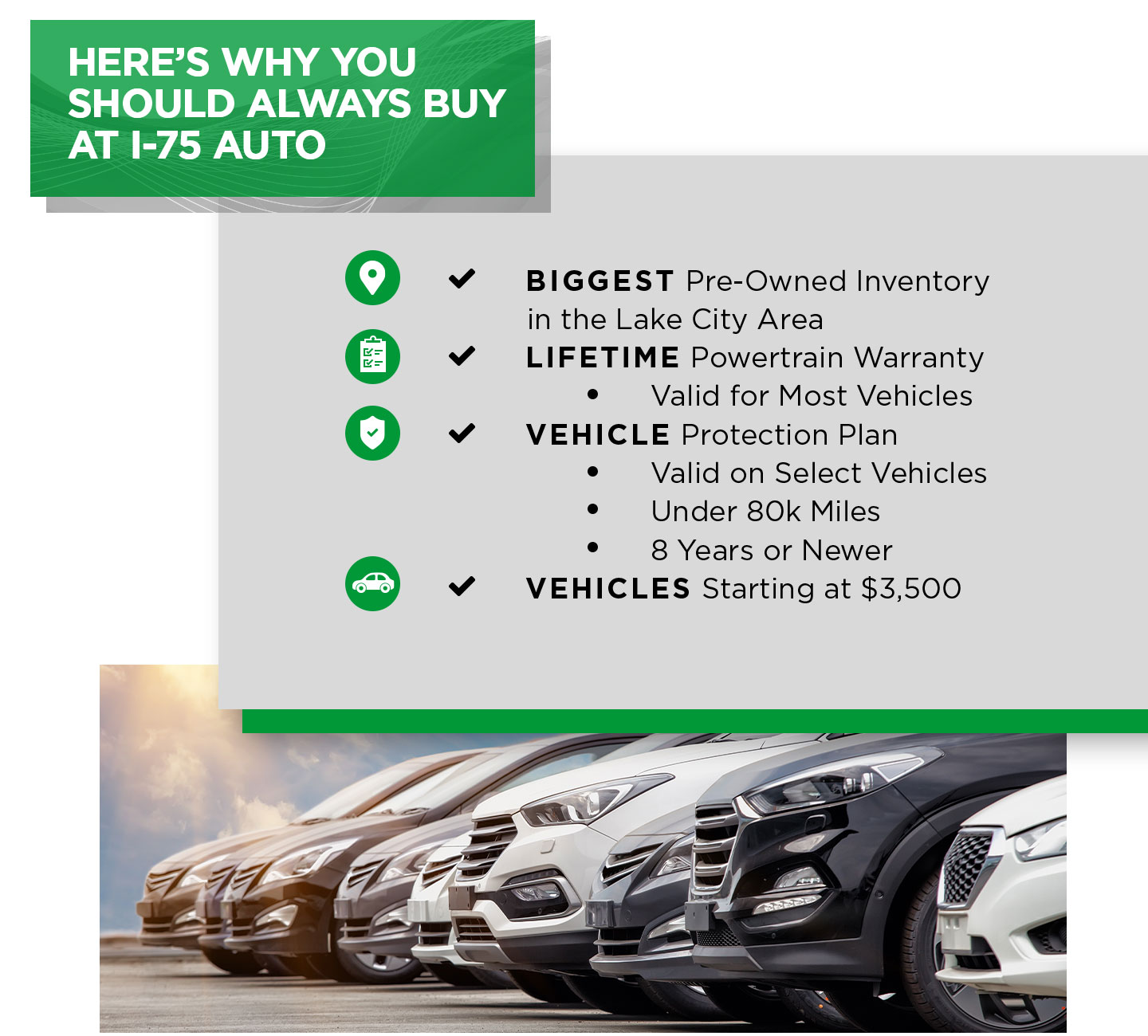Heres why you should always buy at I-75 Auto
