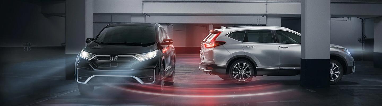Visualization of Honda Sensing® preventing a minor car accident