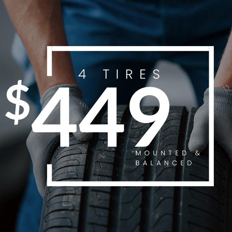 Tires Mounted & Balanced