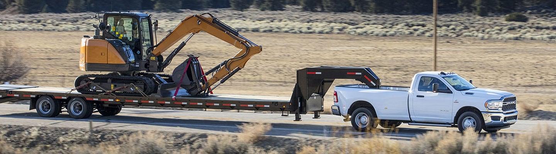 2020 Ram Heavy Duty towing a large trailer
