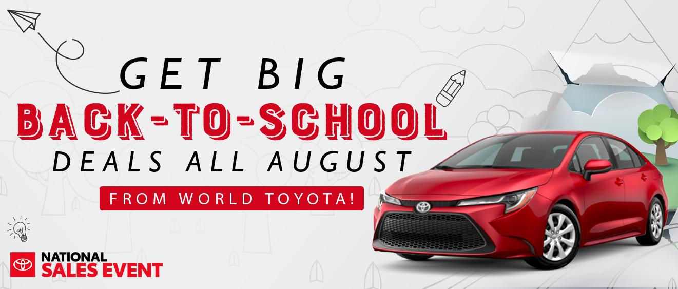 Get Big Back-to-school deals all August