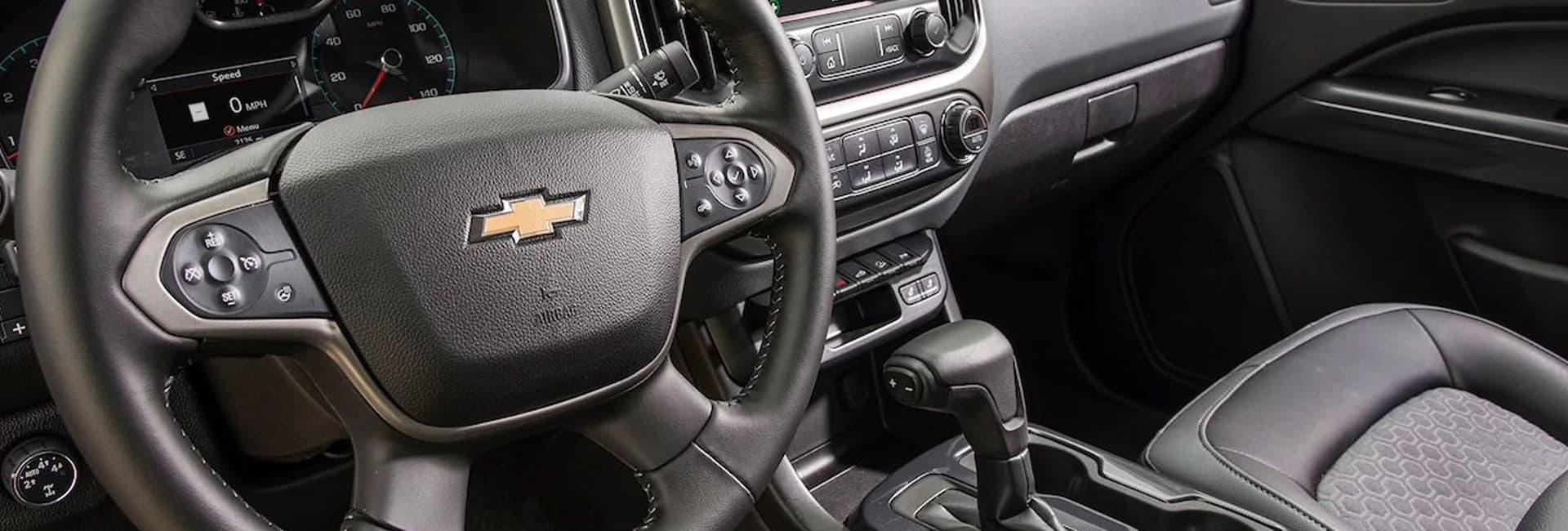 Interior of the 2020 Chevy Colorado