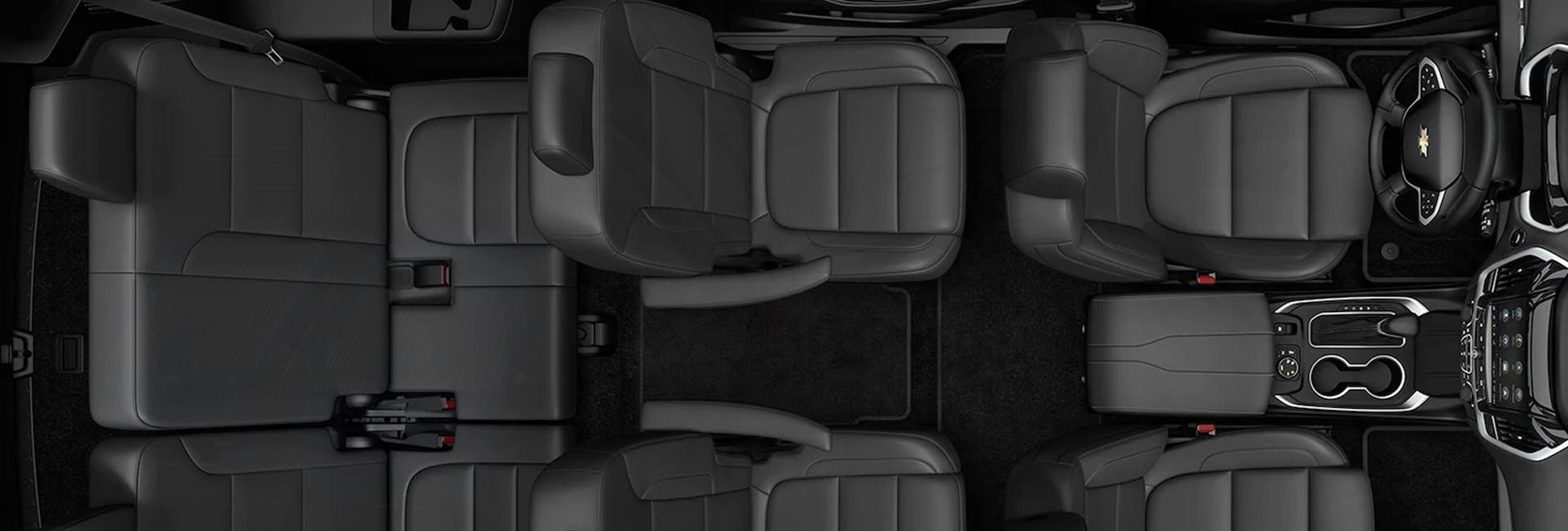 Overhead view of the seating in a Chevrolet Traverse