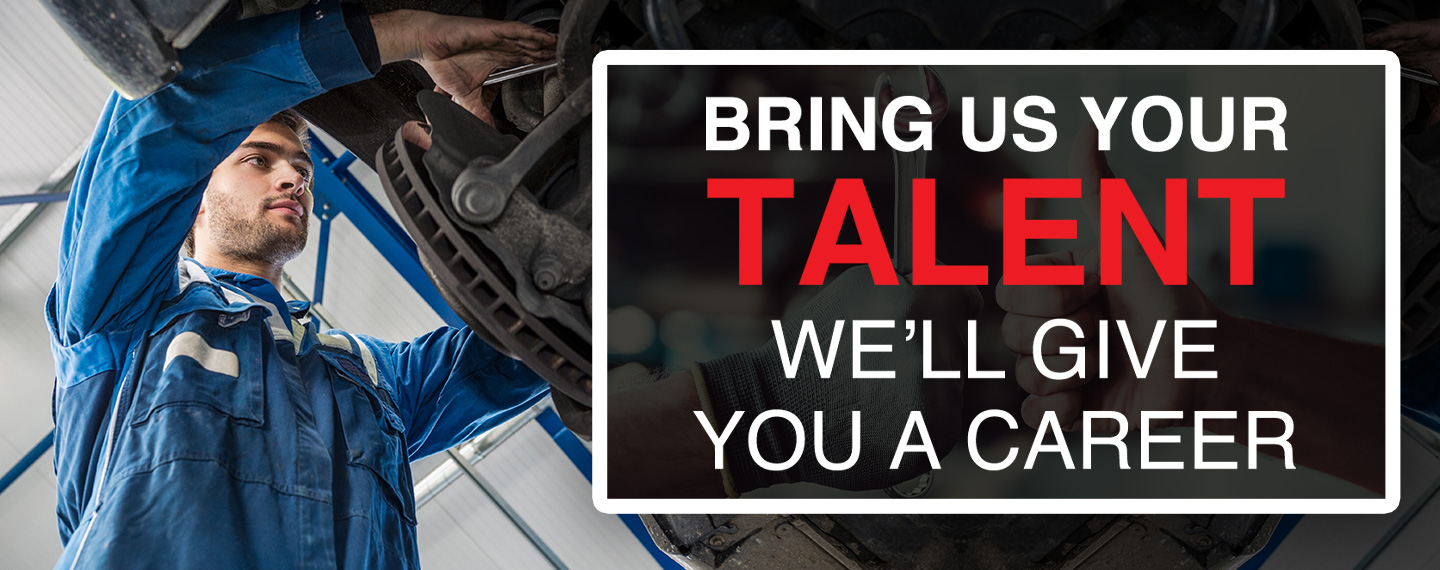 Bring us your talent | we'll give you a career