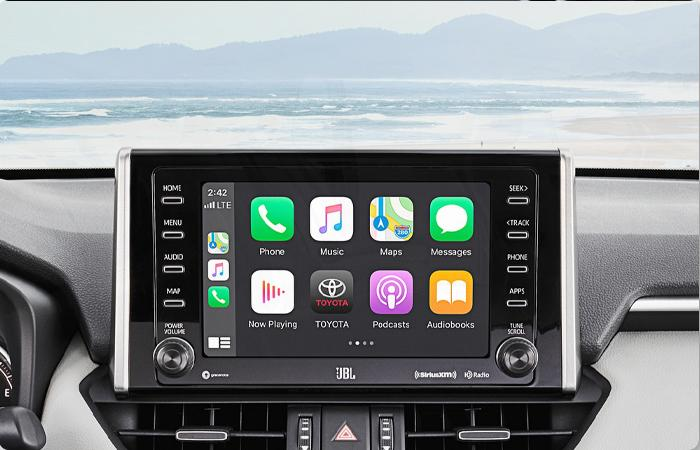 Front Dashboard view 2021 Toyota RAV4