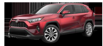 Red 2021 Toyota RAV4