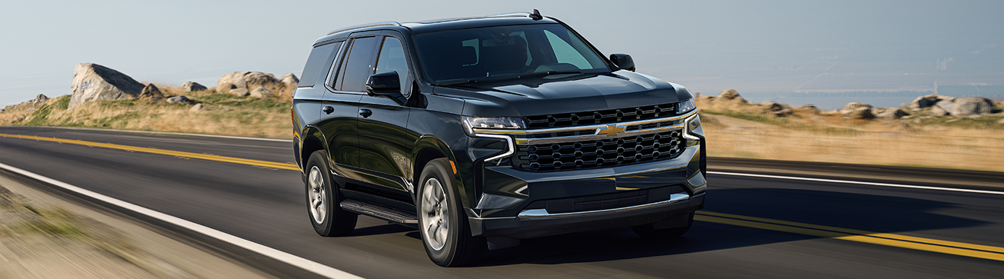 2021 Chevy Tahoe in motion