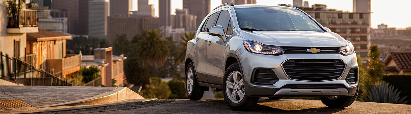 2021 Chevy Trax parked overlooking the city