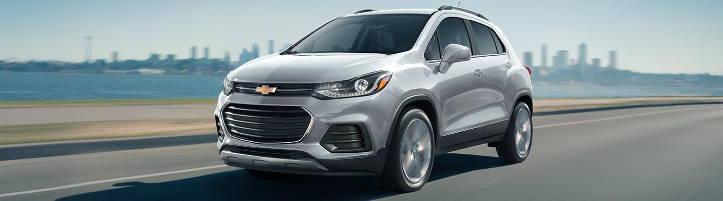 2021 Chevy Trax in motion near the ocean