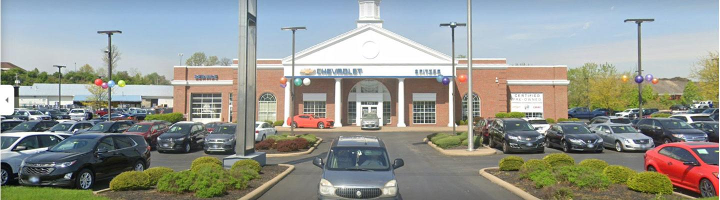 Wide view of the Spitzer Chevrolet North Canton dealership