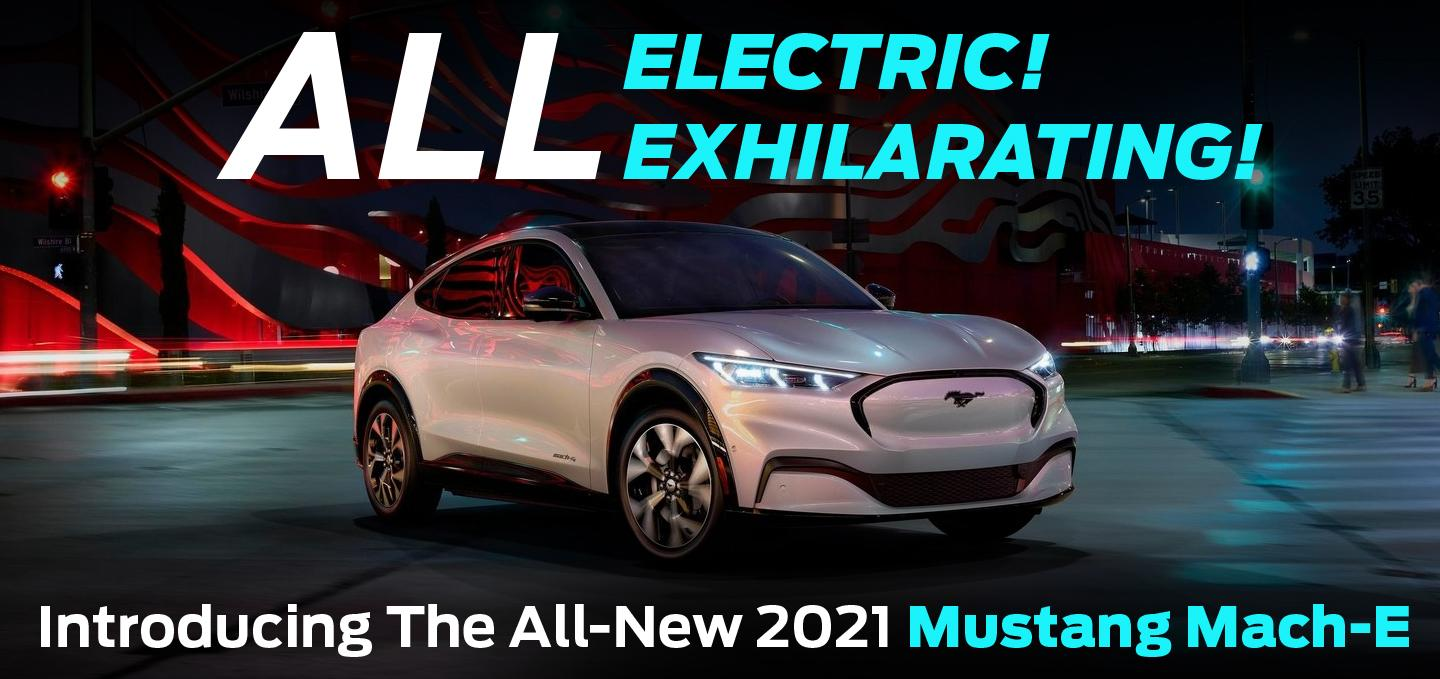 All Electric! All Exhilarating! - Introducing The All-New 2021 Mustang Mach-E
