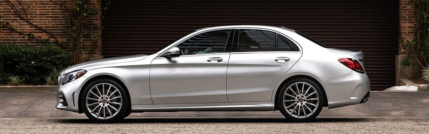 Side profile of the 2020 Mercedes-Benz C-Class exterior