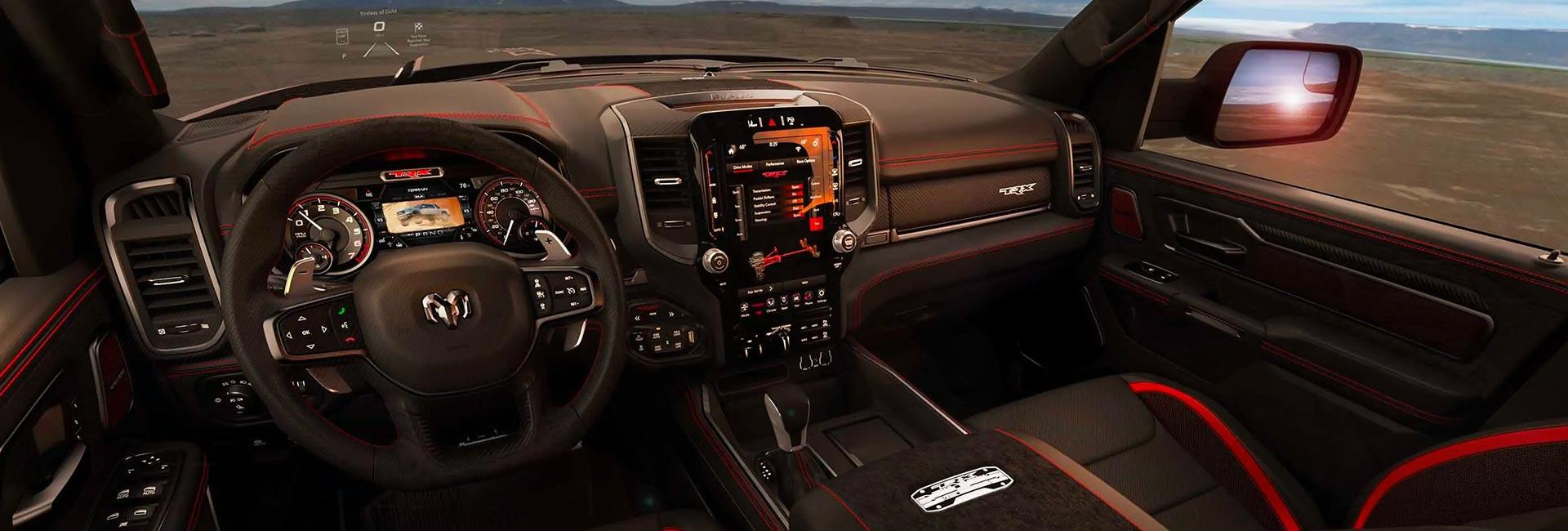 Interior view of the 2021 RAM TRX