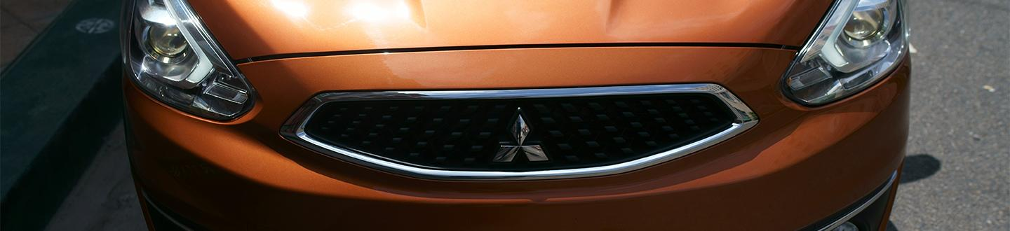 View of 2020 Mitsubishi Mirage front grill