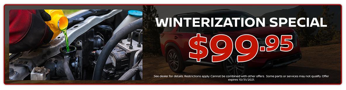 $99.95 Winterization Special Offer