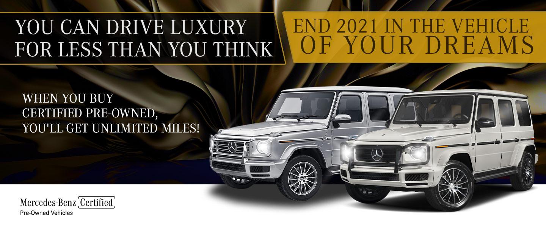 2 Mercedes Benz vehicles