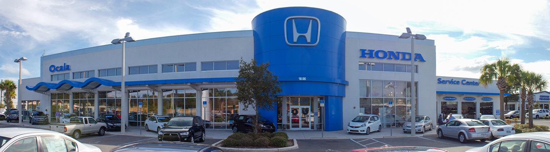 Outside of our Honda of Ocala car dealership