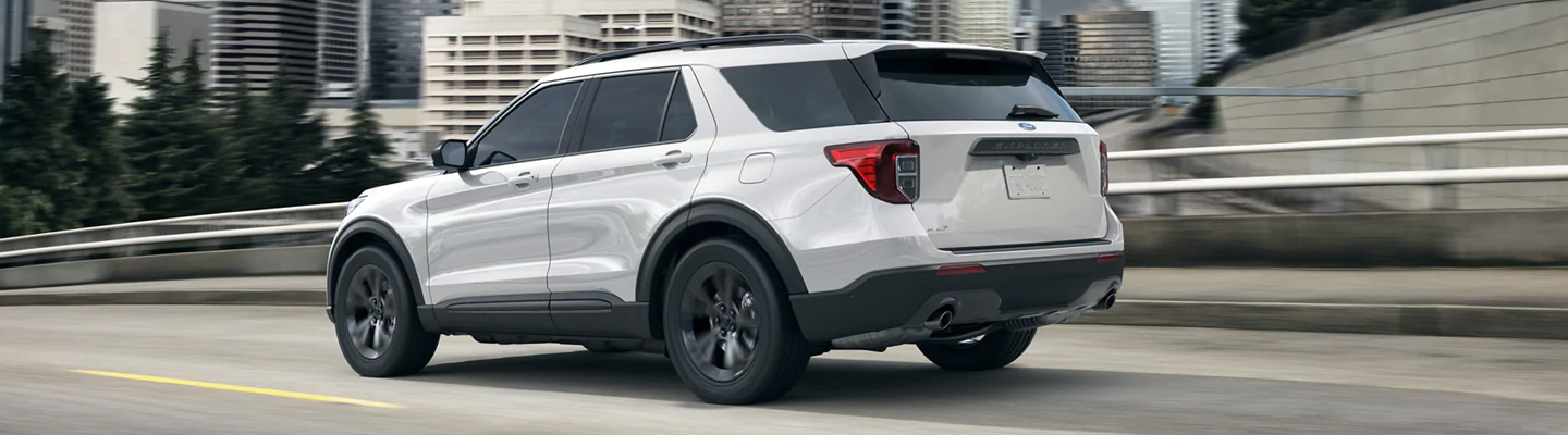 Technology features in thView of a 2020 Ford Explorer for sale