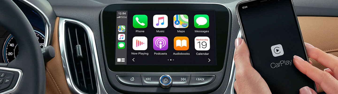 2021 Chevy Equinox Apple CarPlay® and Android Auto™ display