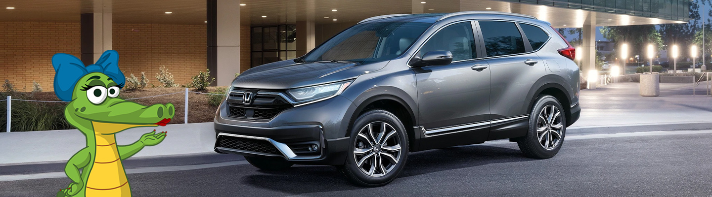 Side view of a grey 2020 Honda CR-V parked outside